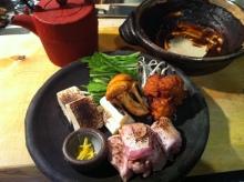 大山鶏の土手鍋